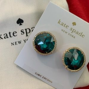 Kate Spade She Has Spark Stud Earrings Blue Zircon